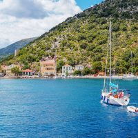 Ithaca island in Ionian sea, sailing with 7 islands yachting