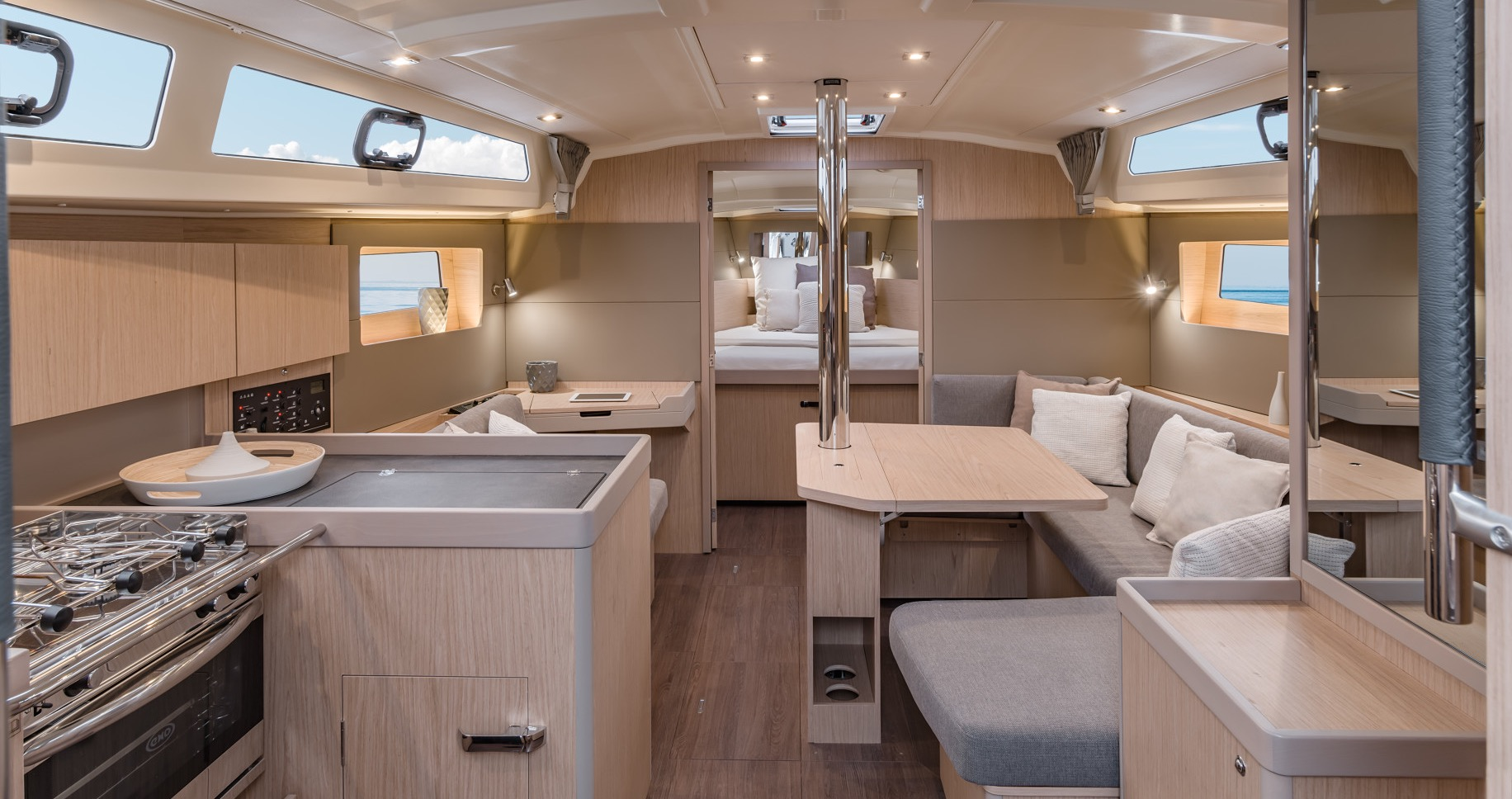 Interior of an Oceanis 41.1, by 7 islands yachting